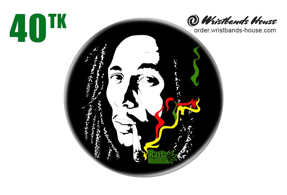 Bob Marley Rasta Mania Badge