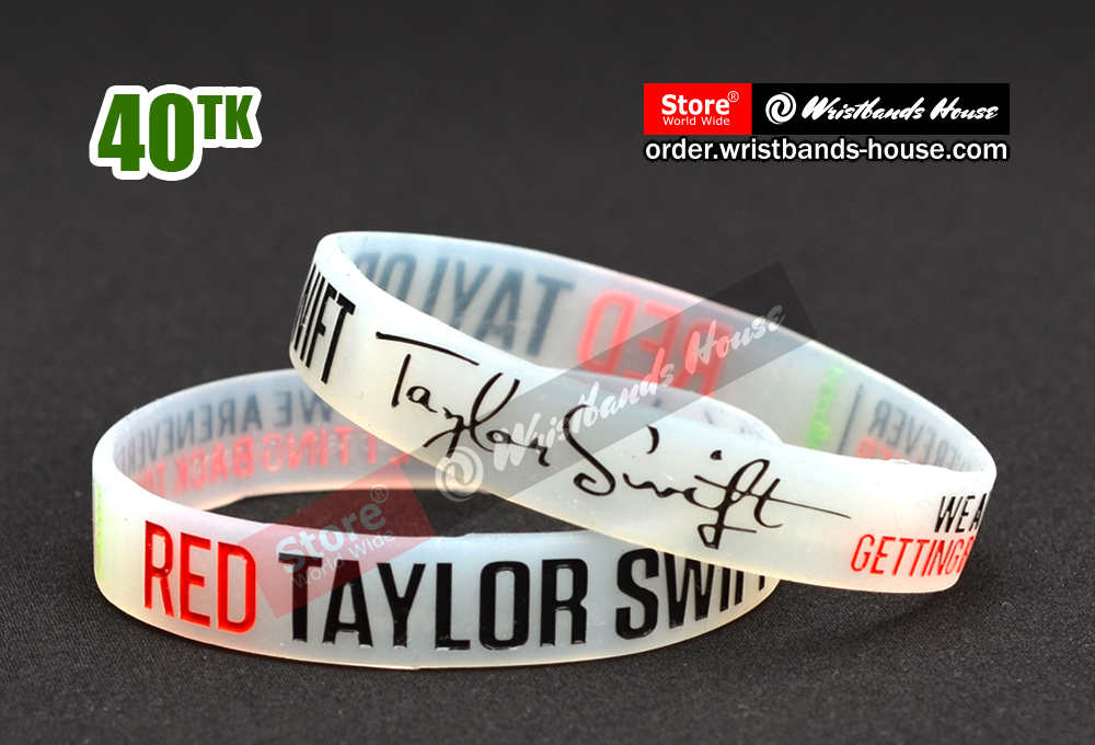 Red Taylor Swift Transparent 1/2 Inch