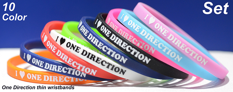 One Direction 10pcs Set 1/4 Inch
