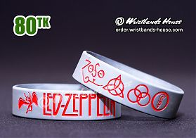Led-Zeppelin Silver-Red 3/4 Inch