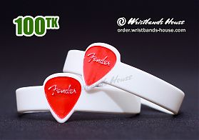 Fender Figured Wristbands White