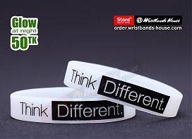 Think Different White Glow 1/2 Inch