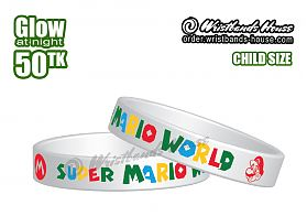 Super Mario World White Glow 1/2 Inch Child