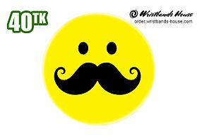 Smile with Mustache Badge