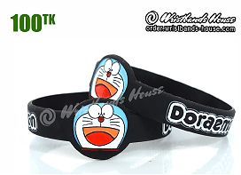 Doraemon Figured Wristbands Black