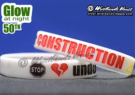 Under Construction White Glow 1/2 Inch