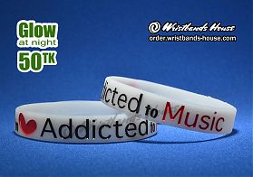 Addicted To Music White Glow 1/2 Inch