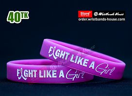Fight Like a Girl Purple 1/2 Inch