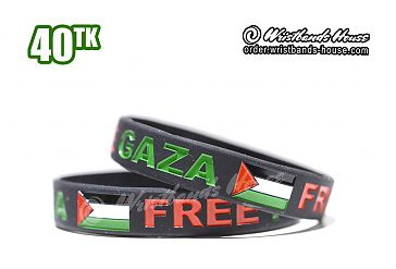 Save Gaza Black 1/2 Inch