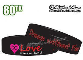 Love with No Limit Black 3/4 Inch