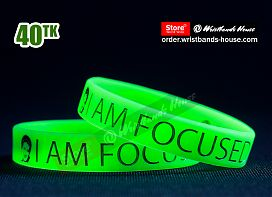I am Focused Green 1/2 Inch
