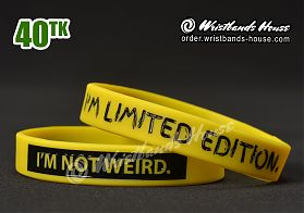 I'M Not Weird Yellow 1/2 Inch