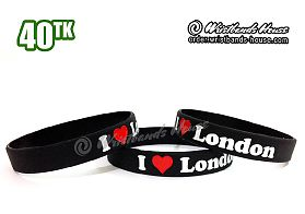 I Love London Black 1/2 Inch