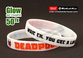 Deadpool White Glow 1/2 Inch