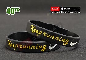 Keep Running Black 1/2 Inch
