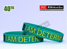 I am Determined Green 1/2 Inch