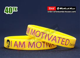 I am Motivated Yellow 1/2 Inch