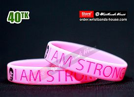 I am Strong Pink 1/2 Inch