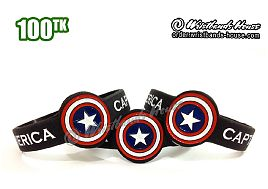 Captain America Figured Wristbands Black