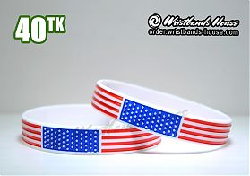 USA Flag White 1/2 Inch