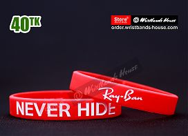 Never Hide Ray Ban Red 1/2 Inch