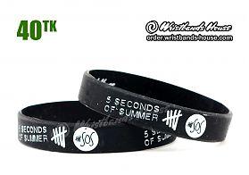 5 Seconds of Summer Black 1/2 Inch