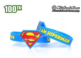 Superman Figured Wristbands Blue