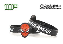 Spiderman Figured Wristbands Black
