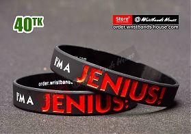 I Am Jenius Black 1/2 Inch