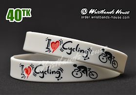 I Love Cycling White 1/2 Inch