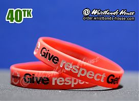 Give Respect Get Respect Red 1/2 Inch
