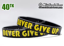 Never Give Up Black 1/2 Inch