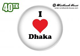 I Love Dhaka Badge
