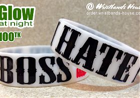 I Hate My Boss White Glow 3/4 Inch
