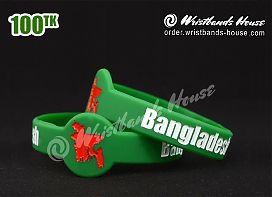 Bangladesh Figured Wristbands Green
