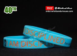 I am Discipline Blue 1/2 Inch