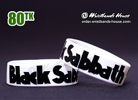 Black Sabbath White 3/4 Inch